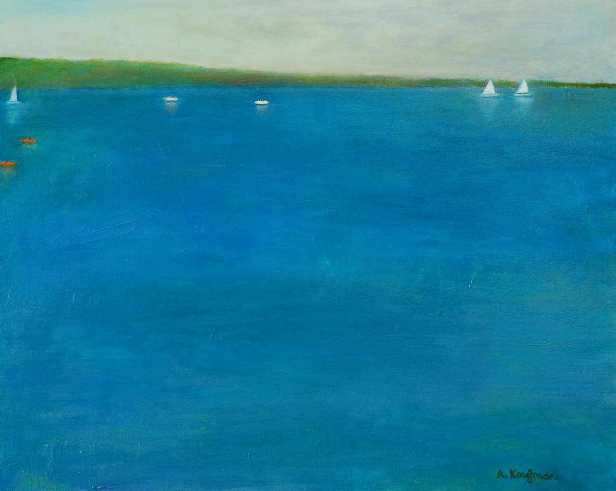 Oil painting Amy Kaufman, Deck View by Amy Kaufman
