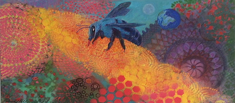 blue-bee by Frederica  Hall