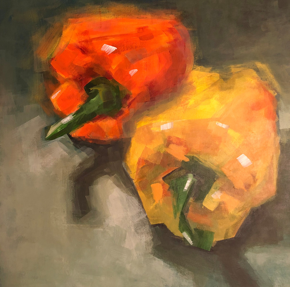 Acrylic painting Peppers by Linda Richardi