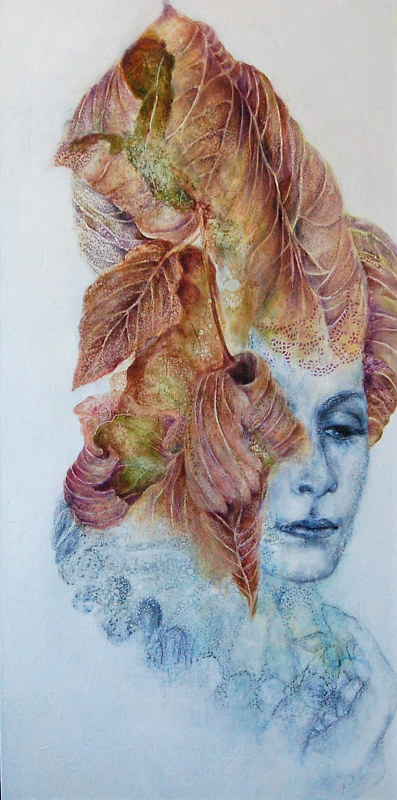 Oil painting The Whispeer of Time I by Liba Labik