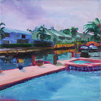 Oil painting robert's pool by Madeline Shea
