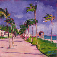 Oil painting south florida beach  by Madeline Shea