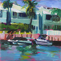 Oil painting one view of the grand canal  by Madeline Shea