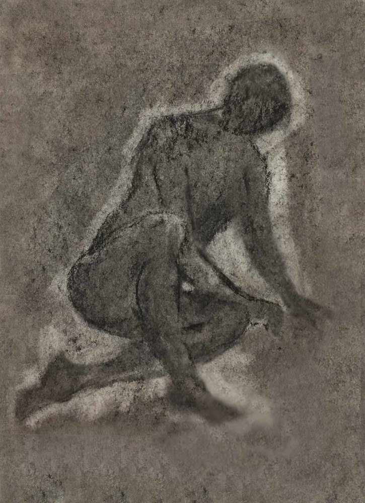 Drawing Seated Figure by Anastasia O'melveny