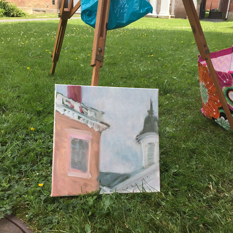 Painting painting/ Lenox Paint Out! by Michele Ridgeway
