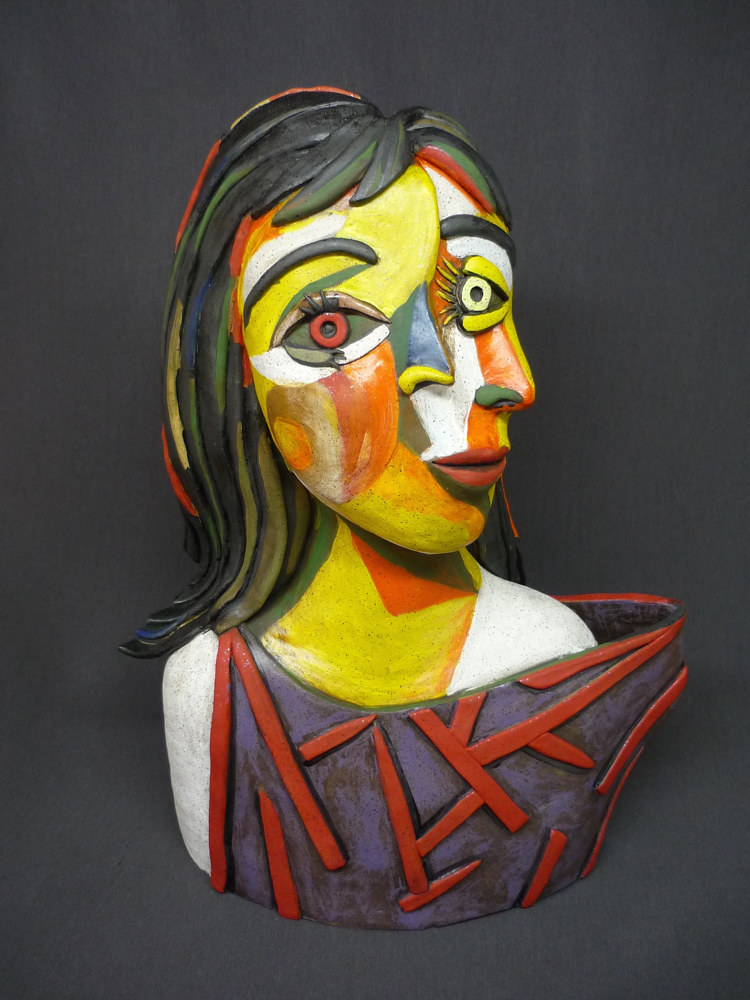 "Painting Dora Maar as ""seen"" by Pablo Picasso by Leanne Schnepp"