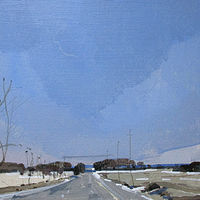 Acrylic painting March Blue by Harry Stooshinoff