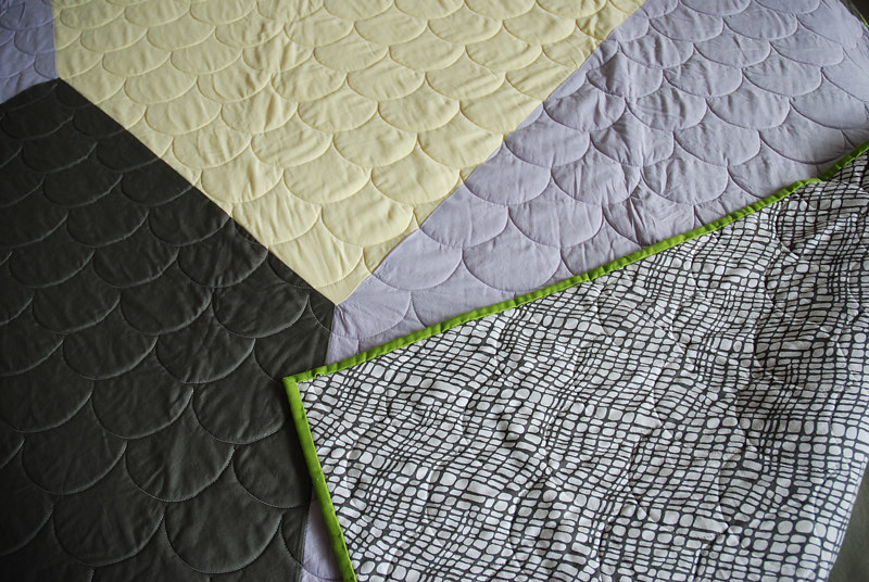 hexagon quilt detail by Stephanie Cormier