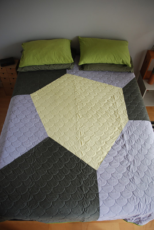 hexagon quilt1 by Stephanie Cormier