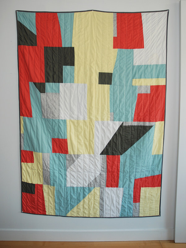 rocks and blocks quilt by Stephanie Cormier