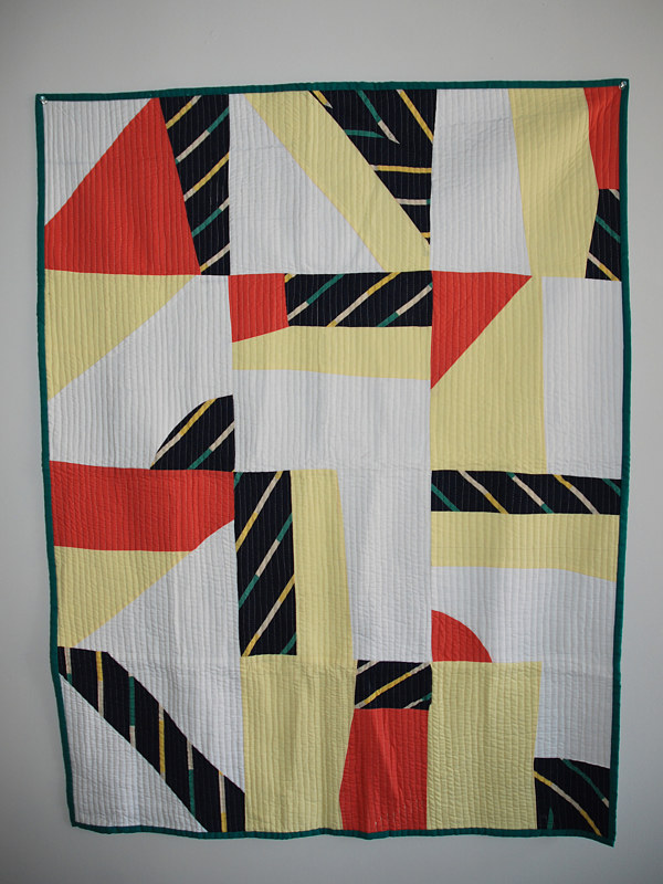 skystripe quilt by Stephanie Cormier