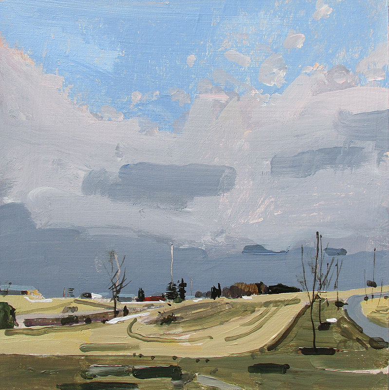 Acrylic painting March Evening by Harry Stooshinoff