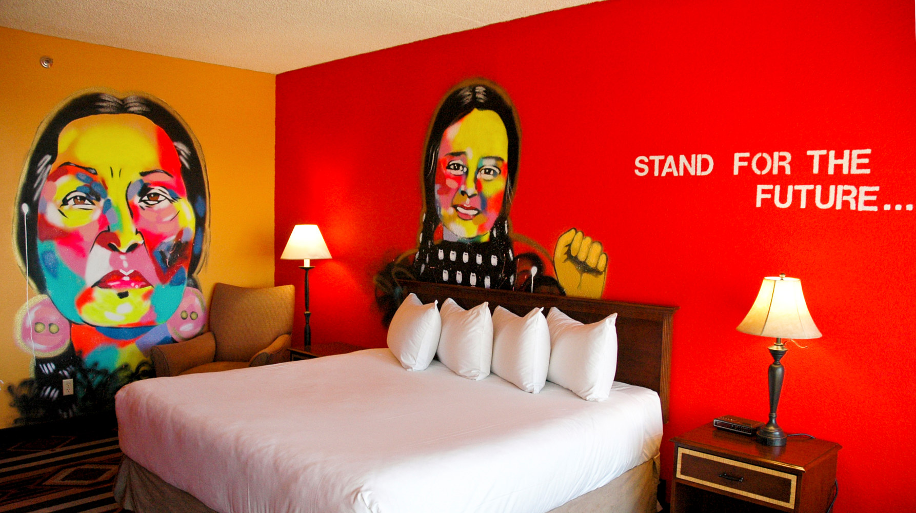 "Nativo Lodge ABQ Mural ""Rise"" Room 525 by J. NiCole Hatfield"