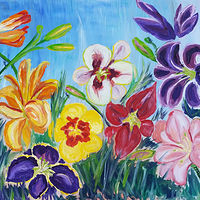 Oil painting Daylilies  by Michelle Marcotte