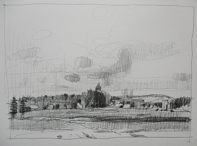 Drawing Homestead, March Thaw by Harry Stooshinoff