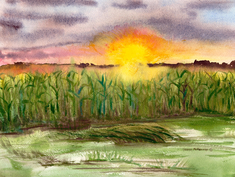 "Print ""A New Day Dawning"" by Jeanne McMenimen"