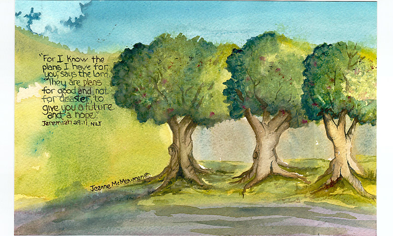 "Print ""For I Know"" by Jeanne McMenimen"