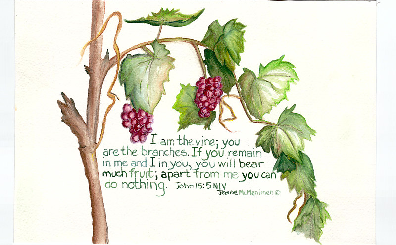 "Print ""The Vine"" by Jeanne Mcmenimen"
