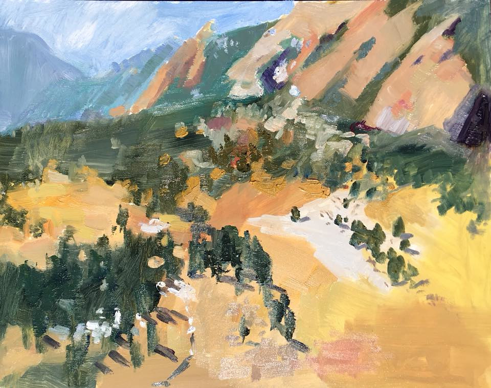 Oil painting NCAR, March (Plein air) by Karen Smith