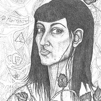 Drawing Self-portrait  by Tracy  Dunbar