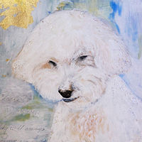 Acrylic painting Duncan, The Love of My Life, closeup by Jose Londono