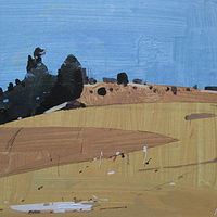 Acrylic painting Sunny Hill, March 18 by Harry Stooshinoff
