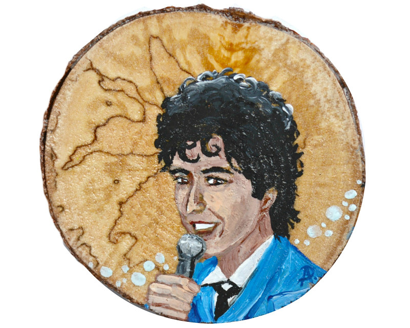 Acrylic painting The Wedding Singer by Amber N Petersen