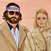 Acrylic painting Richie and Margot by Amber N Petersen