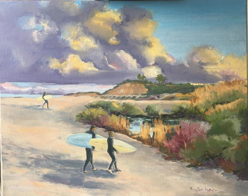 Clouds Over Cotton's, San Clemente, CA by connie scherr