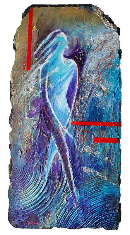 Acrylic painting The Dancer #3 in the series by Jose Londono
