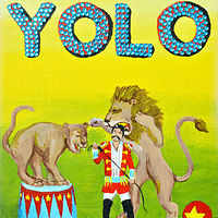 Acrylic painting YOLO by Amber N Petersen
