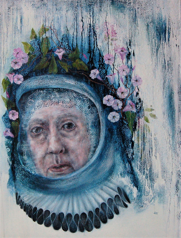 Oil painting Queen of Being Lost in Time by Liba Labik
