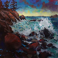 Evening Swells Acrylic 24x24 2017.JPG2222 by Brian  Buckrell