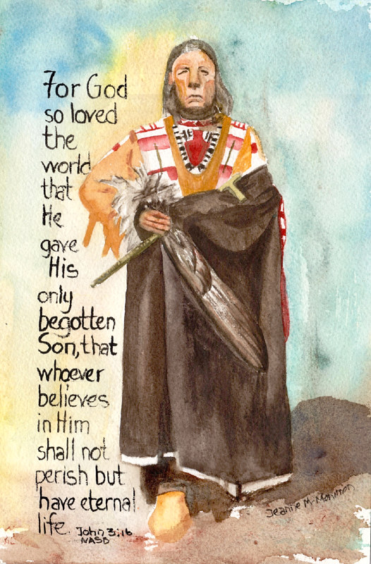 "Print ""For God"" by Jeanne McMenimen"