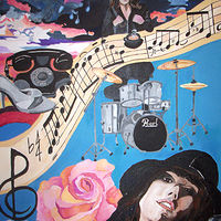 """Musical Me 2"" acrylic by Kathleen Contri"