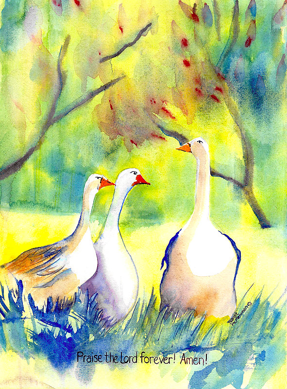 "Print ""Praise the Lord"" by Jeanne Mcmenimen"