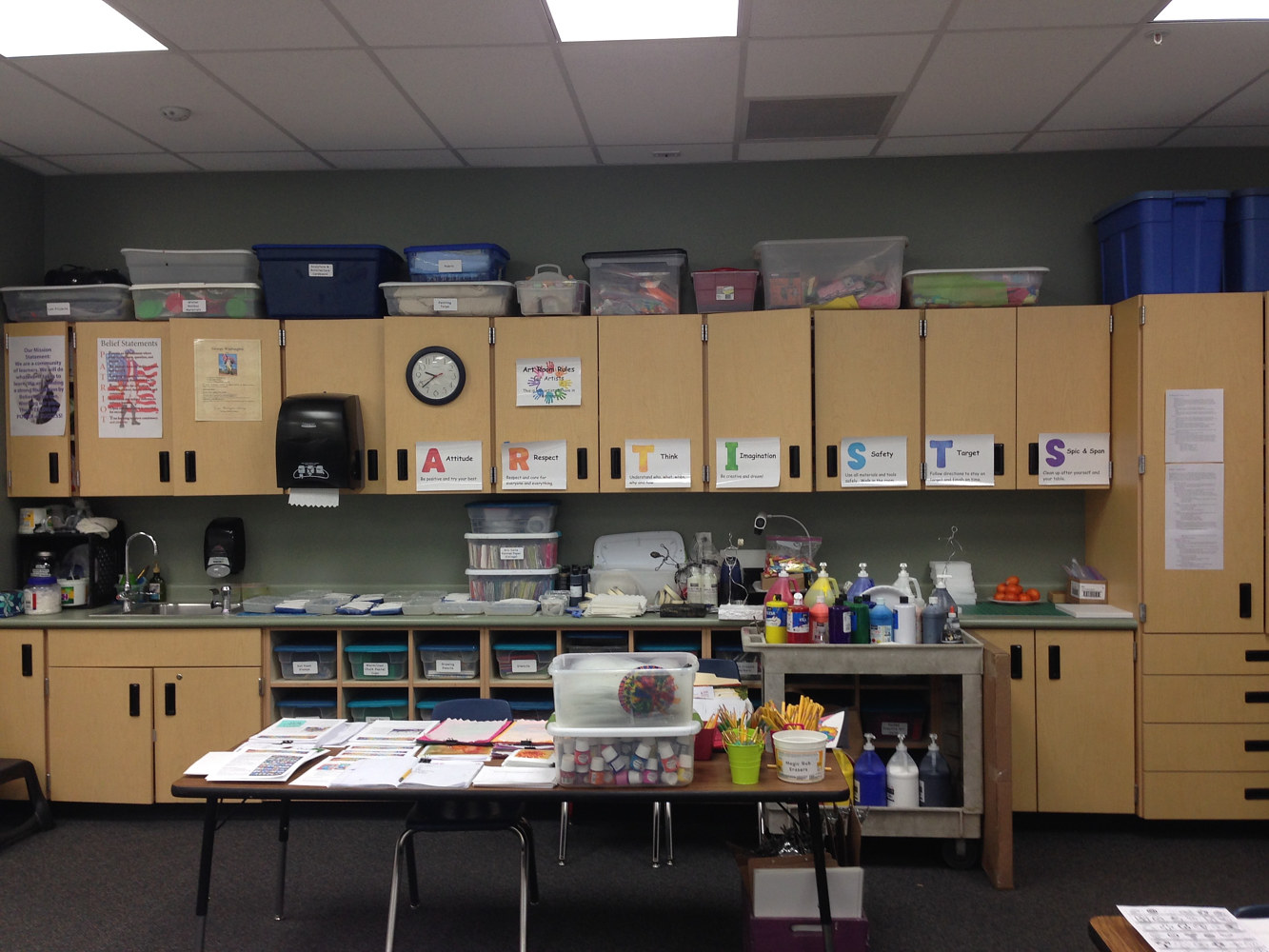 Prep Area in a designated Art Room (2017) by Linnie (Victoria) Aikens Lindsay