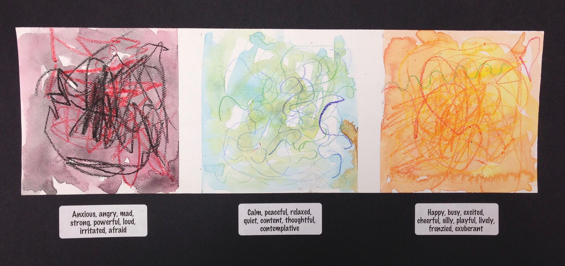 "Gr. K—""The Color and Line of Emotion""—Painting to music by Linnie (Victoria) Aikens Lindsay"