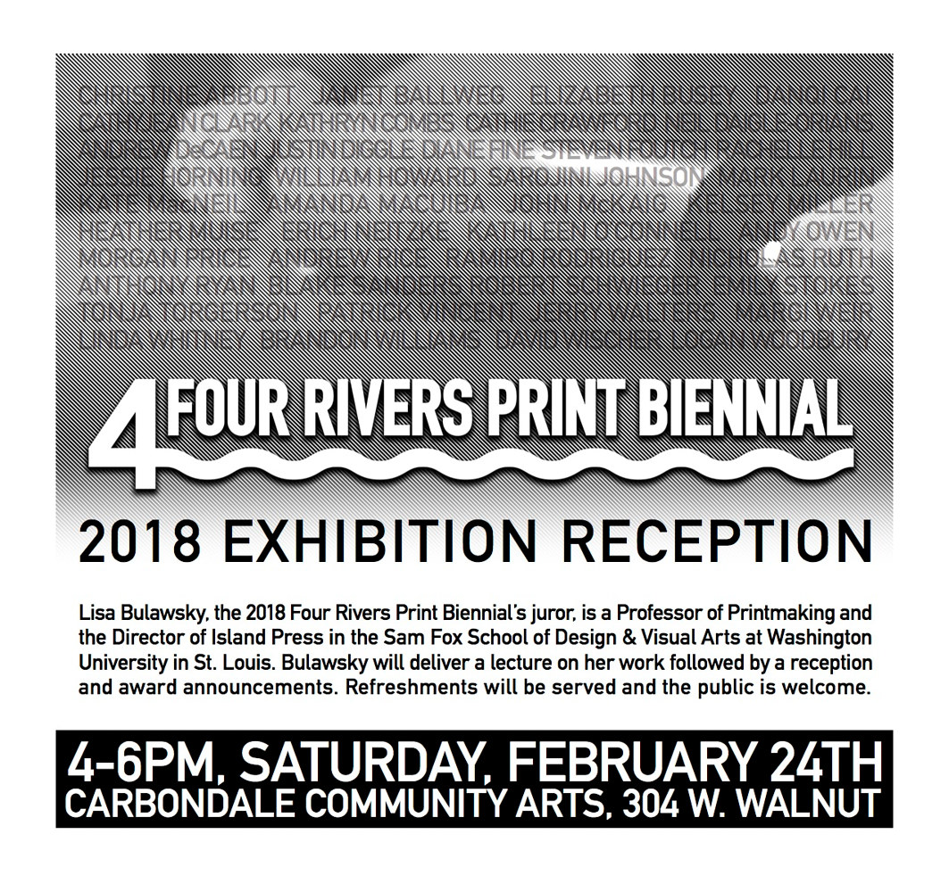 2018 Four Rivers Print Biennial by Cathie Crawford