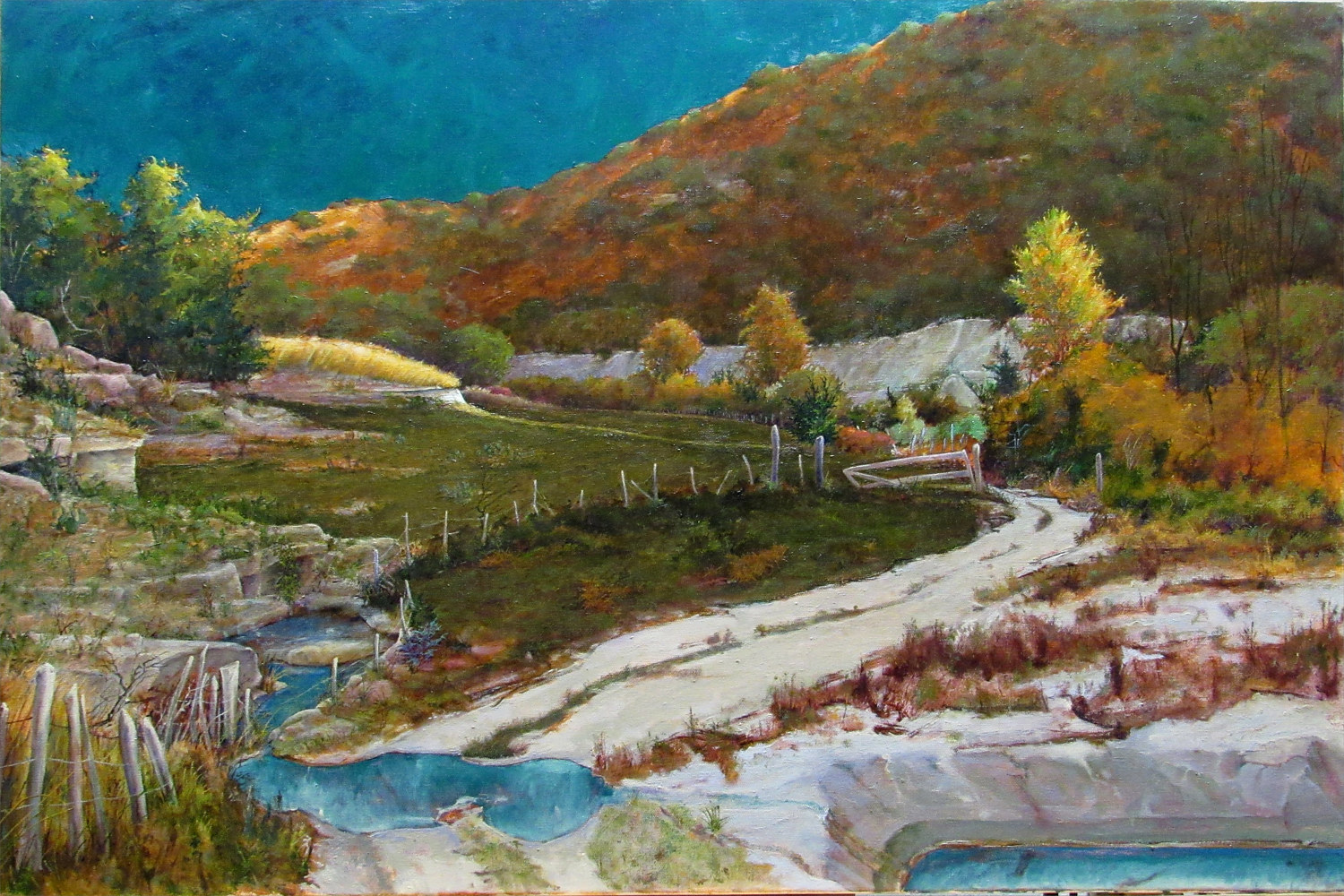 Frio River Trail, 5L Ranch, Lakey, Texas 30x40 by Gary Nowlin