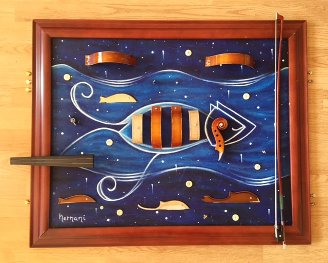 Violin Fish by Bruno Hernani
