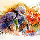 August Hydrangea 16x20, watercolour by Anne Farrall Doyle