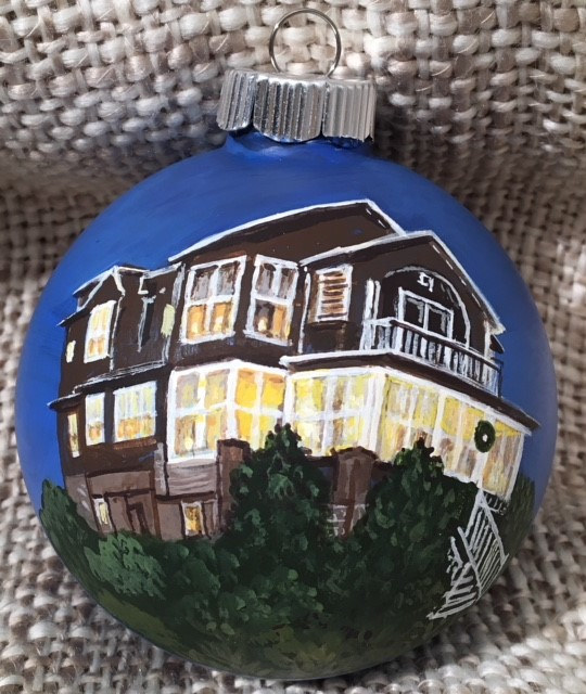 House Portrait Ornament by Susan Lynch