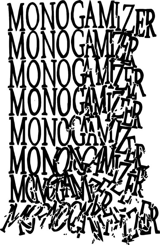 Monogamizer Crumble Logo by Randall Day