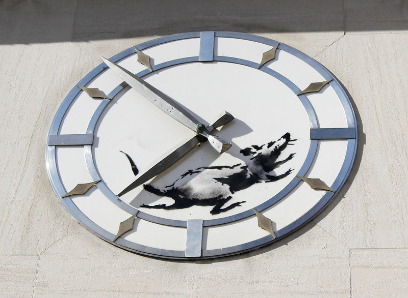 Banksy Clock by Jose Londono