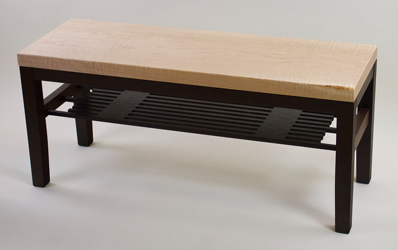 Curly Maple / Wenge Bench by Enrique Morales