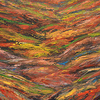 Acrylic painting Painted Hills by David Tycho