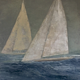 Oil painting The Race at Thomas Henry gallery by Nella Lush