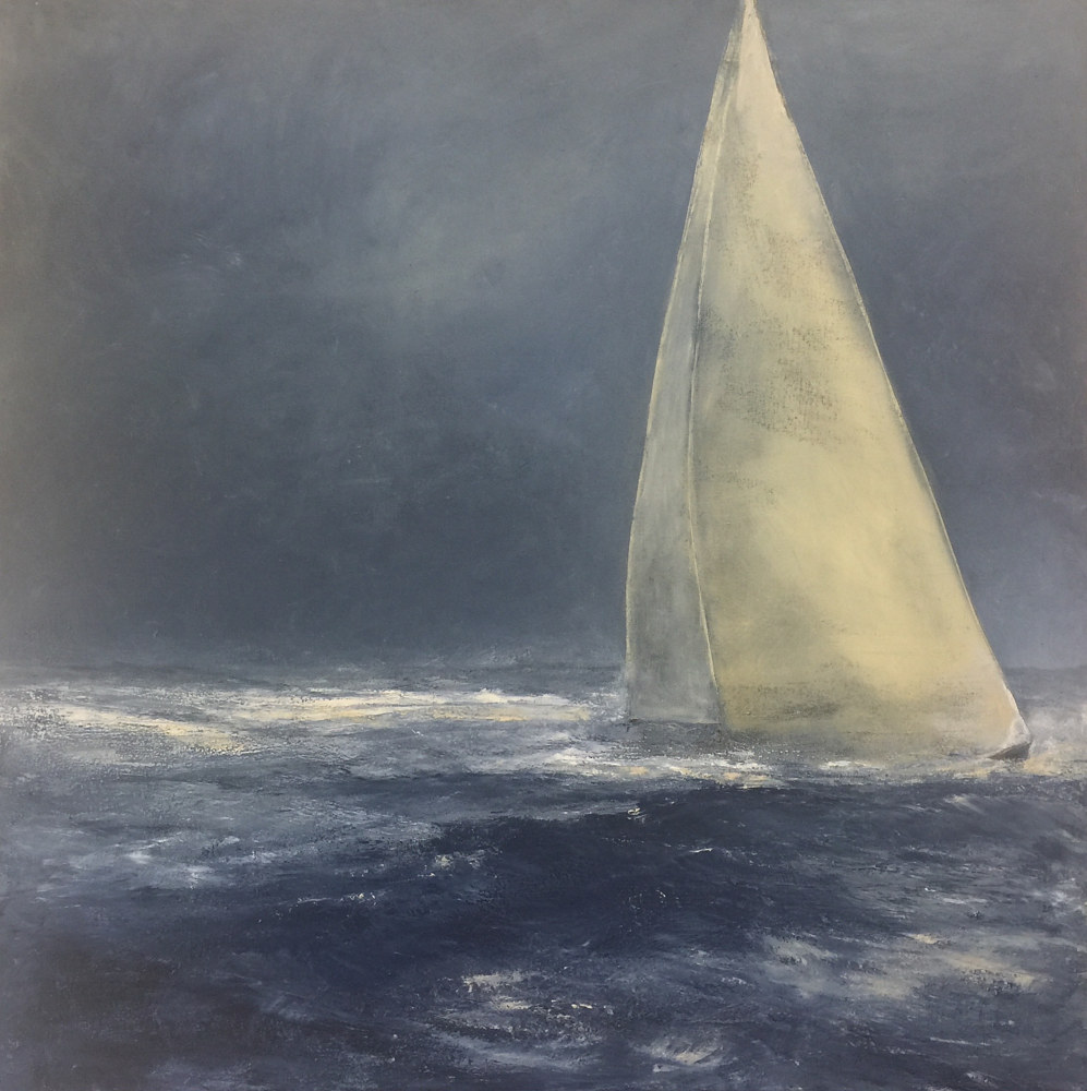 Oil painting Timed Run - Thomas Henry gallery, Nantucket by Nella Lush