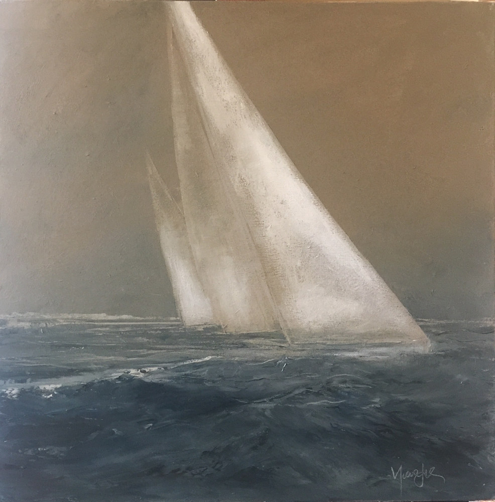 Oil painting Vela I - Thomas Henry gallery, Nantucket by Nella Lush